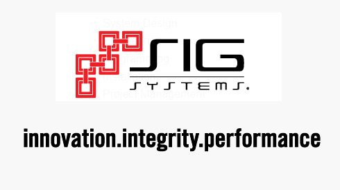 SIG Systems - Innovation. Integrity. Performance.